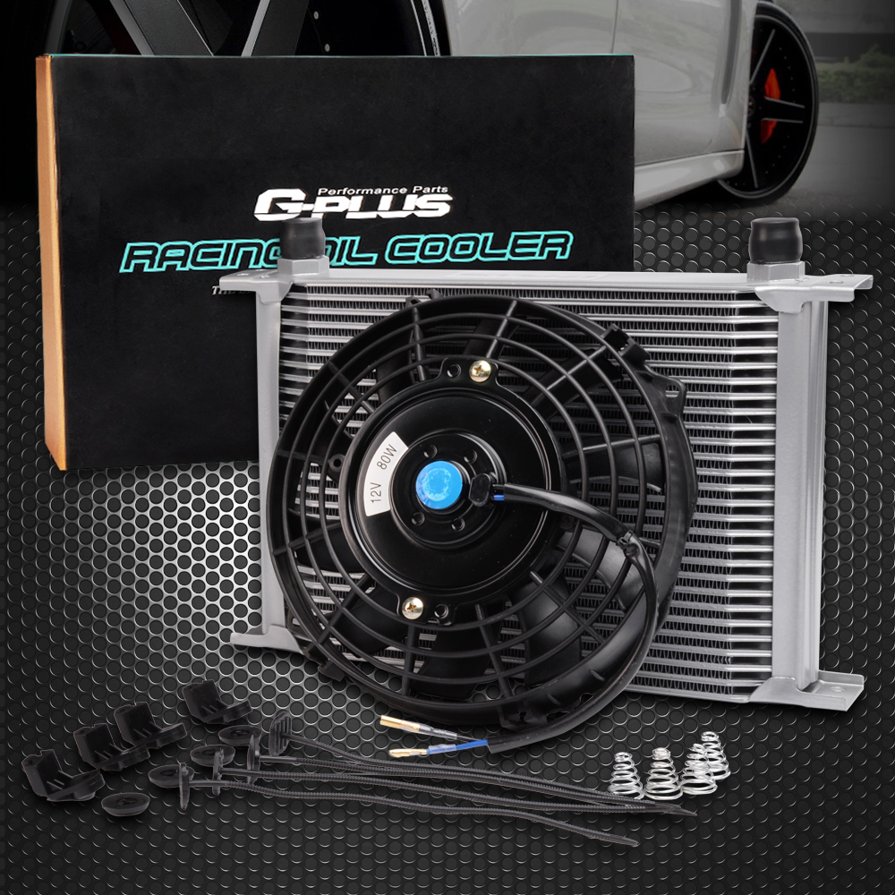 28 ROW AN-10AN Universal EngineTransmission Oil Cooler + 7