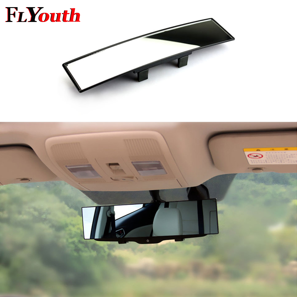 1PC 300mmX65mm Curved Rear View Mirror Universal Wide Angle Rear View Mirror Car Interior Mirrors Rearview Mirror Car Styling