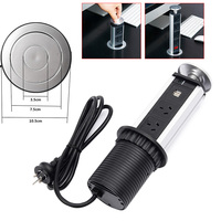 Pull Pop Up Electrical 3 Socket 2 USB Kitchen Retractable Office Metting Desk Table Socket QJ888