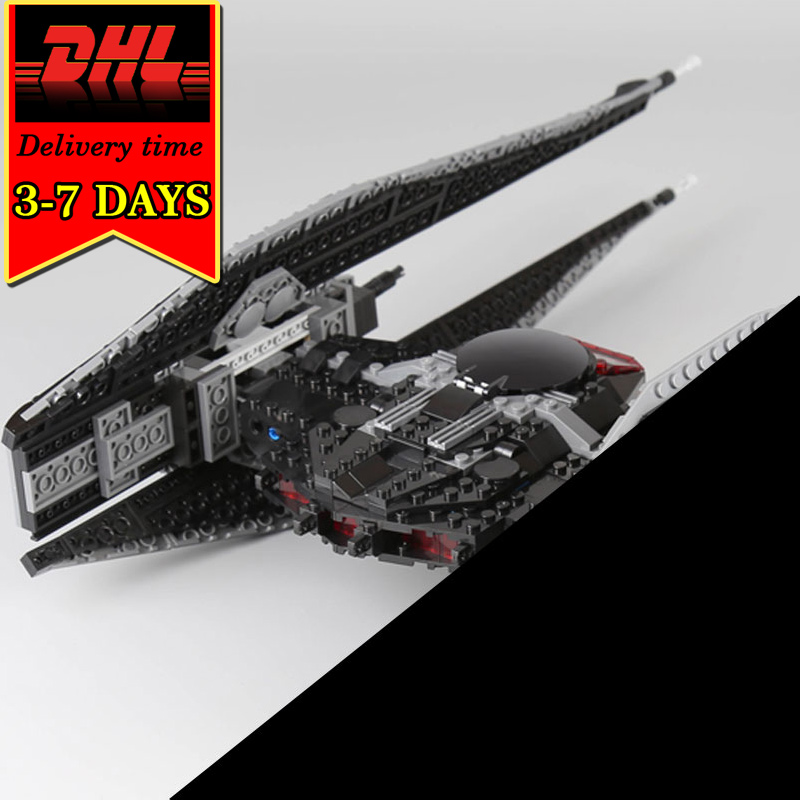 DHL LEPIN 05127 The Tie Model Fighter Set 705Pcs Star Series Compatible Military War Building Block Brick Educational Toy Child 2017 new 1242pcs 05055 lepin star wars vader s tie advanced fighter model building kit figures blocks brick toy compatible 10175