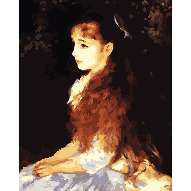 famous oil painting copy little irene by renoir 40 50cm painting by