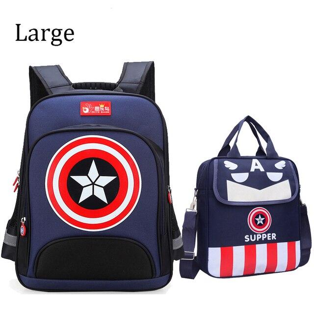Капитан Америка школьные сумки для мальчика первичной ортопедические детские рюкзак прекрасный школьный рюкзаки Дети mochila escolar