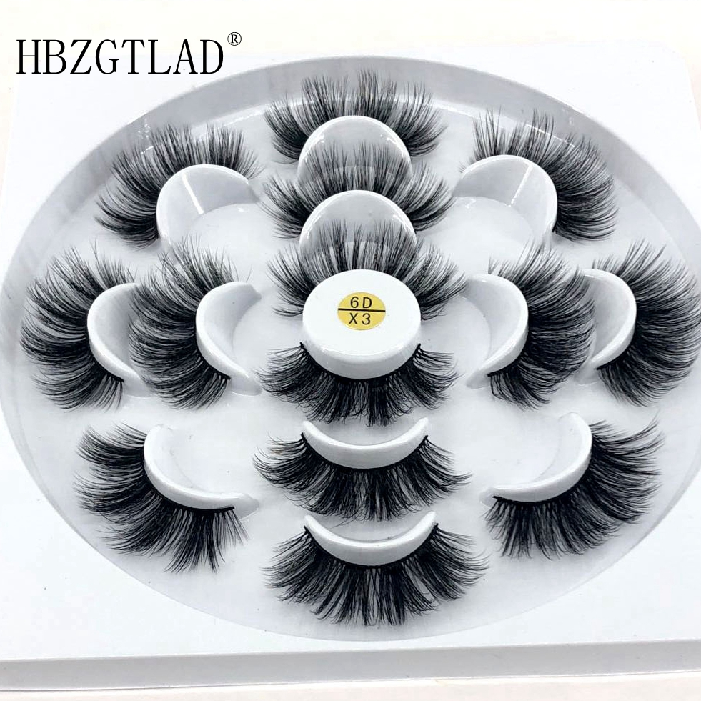 HBZGTLAD 1/2/7 Pairs Natural False Eyelashes Fake Lashes Long Makeup 3d Mink Lashes Eyelash Extension Mink Eyelashes For Beauty(China)