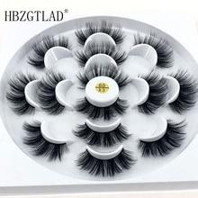 Hbzgtlad 1/2/7 пар натуральные накладные ресницы длинные Макияж 3d норковые ресницы, наращивание ресниц ресницы серо-коричневого цвета для красоты