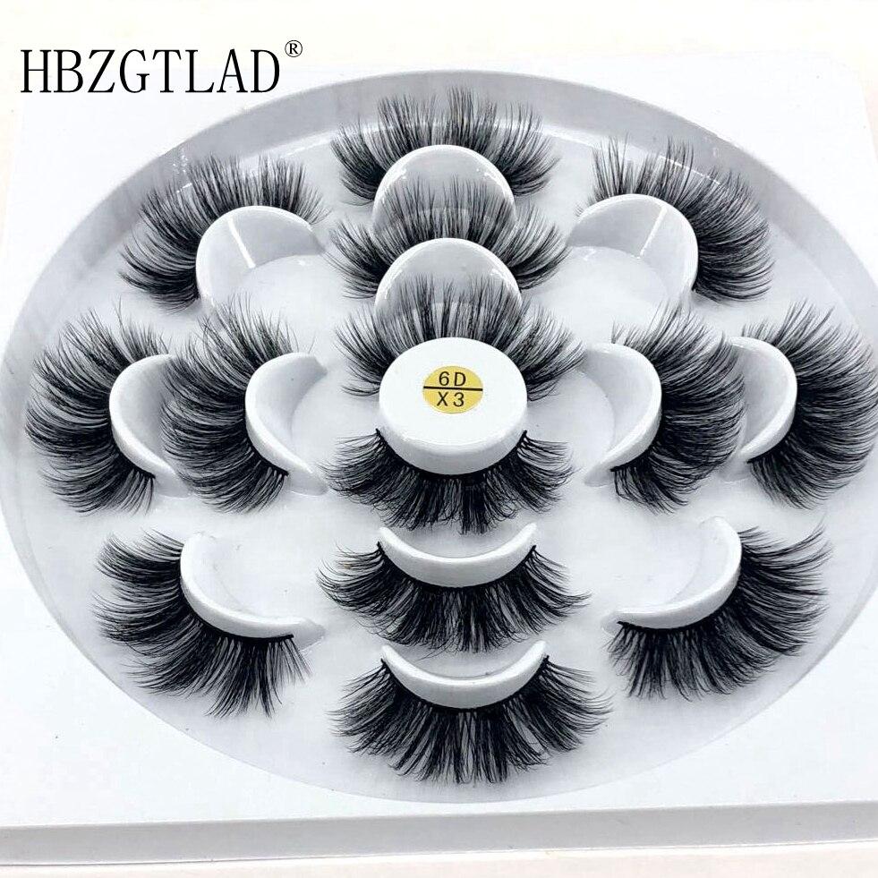 HBZGTLAD 2/4/7 Pairs Natural False Eyelashes Fake Lashes Long Makeup 3d Mink Lashes Eyelash Extension Mink Eyelashes For Beauty