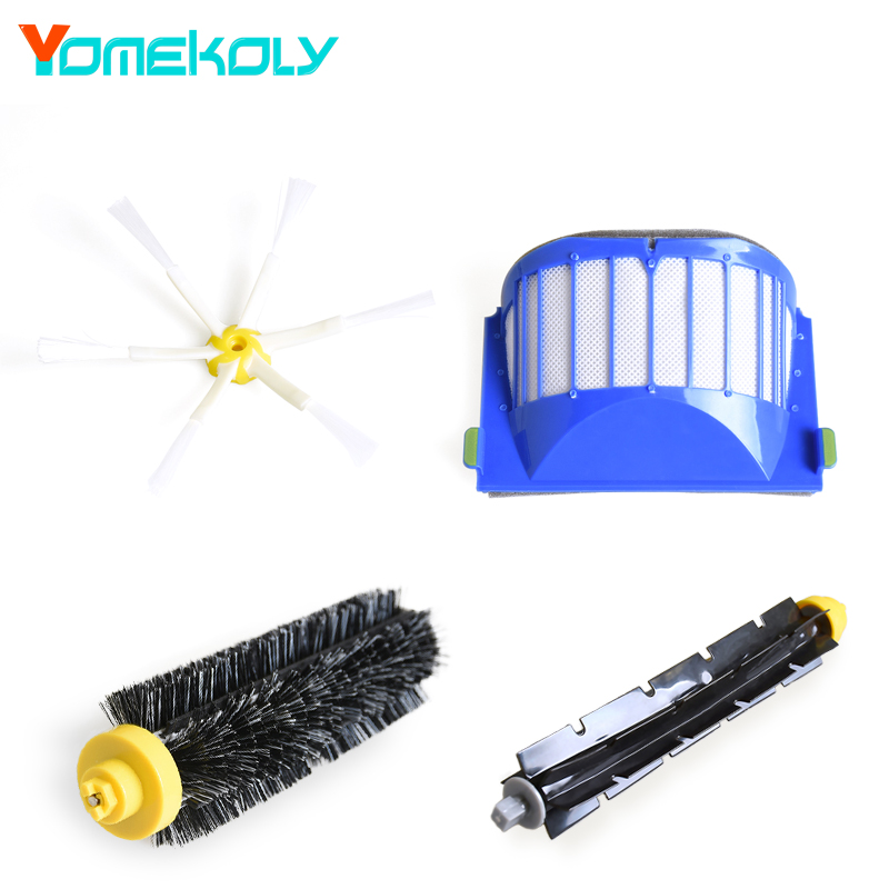 Brush 6-armed + Filters For iRobot Roomba 600 Series 610 620 630 660 650 Vacuum Robots Replacements Cleaner Parts Accessory 3 filters 3 side brush 3 armed vacuum cleaner accessory kit for irobot roomba 500 series 530 540 550 560 570 580 610