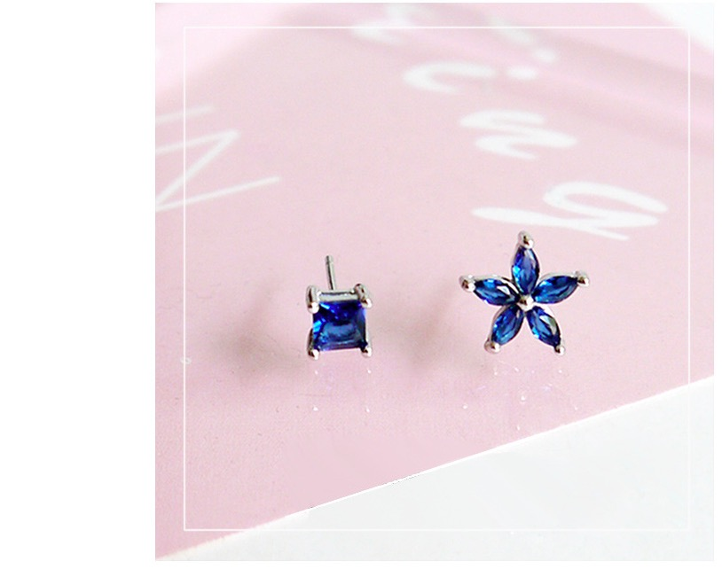 SPE Susan Fashion Square Triangle Round Geometric Marbled White Natural Stone Resin Stud Earrings For Women Christmas Gift pair of stylish rhinestone triangle stud earrings for women