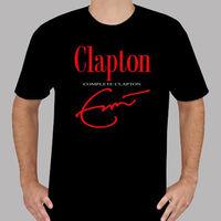 New ERIC CLAPTON Complete Clapton Music Legend Men's Black T Shirt Size S to 3XL