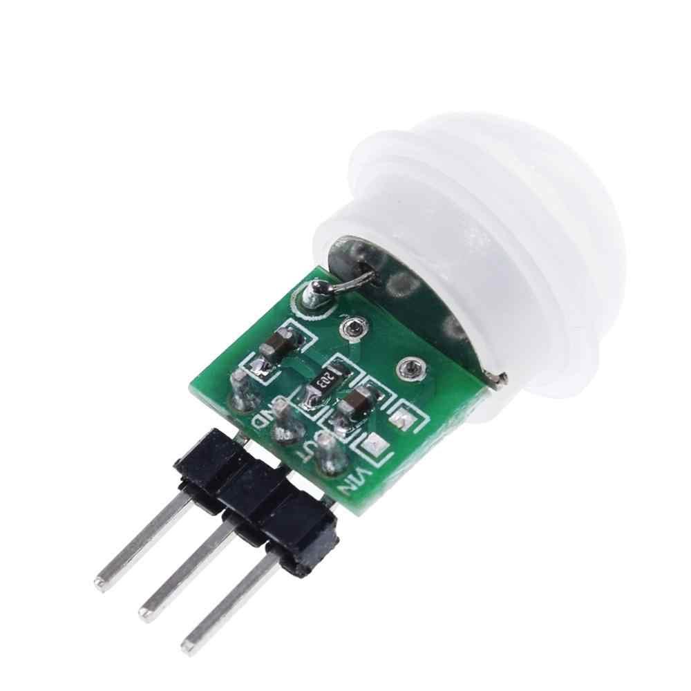 Tzt mini ir piroelétrico infravermelho pir movimento sensor humano módulo detector automático am312 sensor dc 2.7 a 12 v