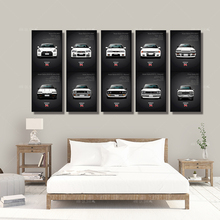 Wall Art Canvas Painting HD Print Artwork 5 Pieces classic Retro Nissan Skyline GTR Car Pictures Bedside Home Decorative Posters