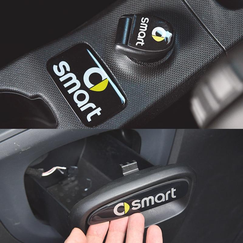 3D Car Interior Decoration Sticker Cigarette Lighter Sticker Drawer Handle Sticker For Smart 453 Fortwo Forfour