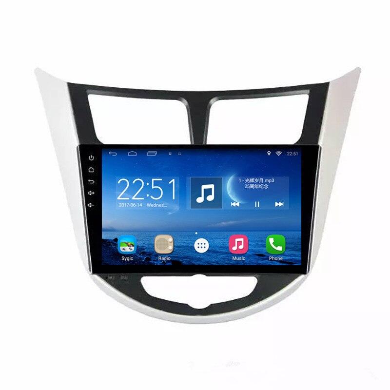 ChoGath auto Multimediální přehrávač Quad Core Android 7.1 Car Radio GPS přehrávač pro Hyundai Verna Solaris Grand Avega 2012-2015