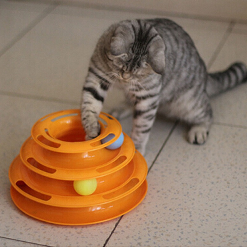 Tower of Tracks Ball and Track Interactive Toy for Cats on Sale