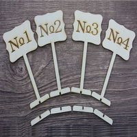 Customized Wooden Table Number Holder