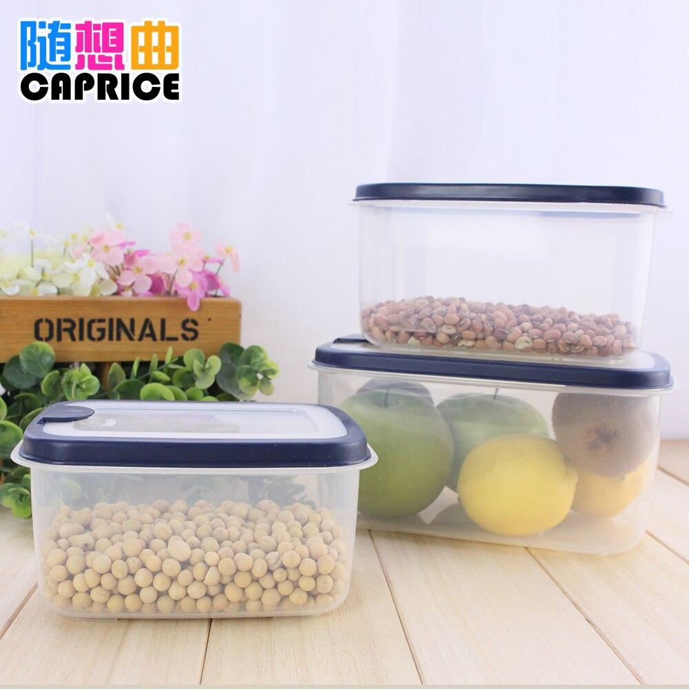 Boîte de conservation de bord bleu rectangle vert boîte de rangement de cuisine boîte de conservation des aliments peut être utilisé dans la réfrigération de four à micro-ondes
