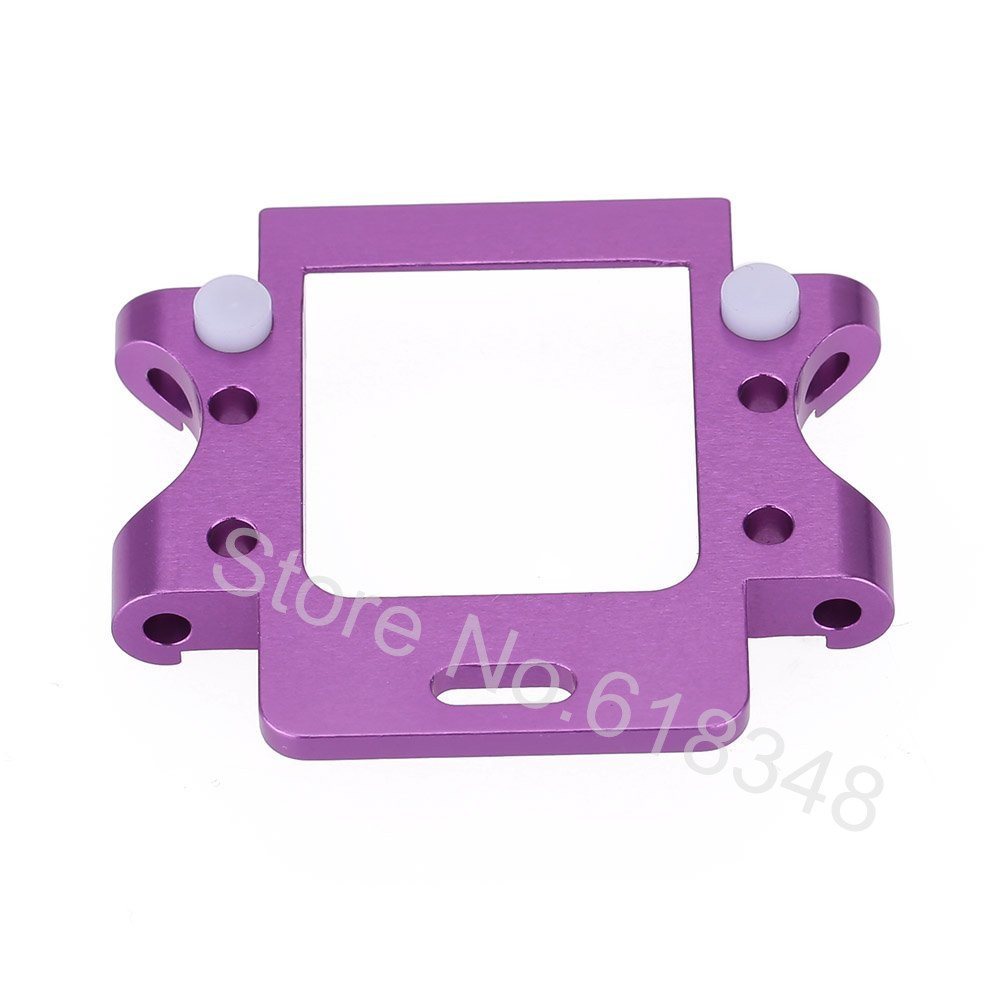 HSP 102061 Aluminum Rear Gear Box Mount 02021 1/10 Upgrade Parts Purple / Blue For RC Car Redcat Himoto
