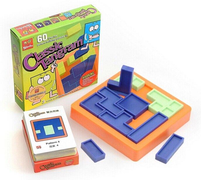 Kvalitet Plastic IQ Logic Puzzle Mind Brain Teaser Perler Tangram - Puslespill - Bilde 5