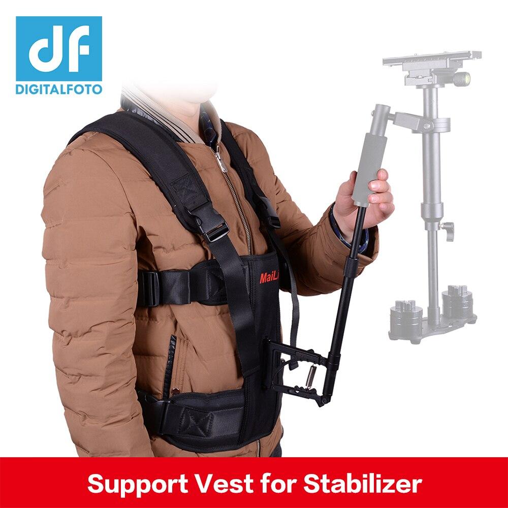 DF DIGITALFOTO Caméra steadicam gilet vidéo steadycam caméscope gilet stabilisateur DSLR tenir la tige de support 5D2 5D3 steadicam système