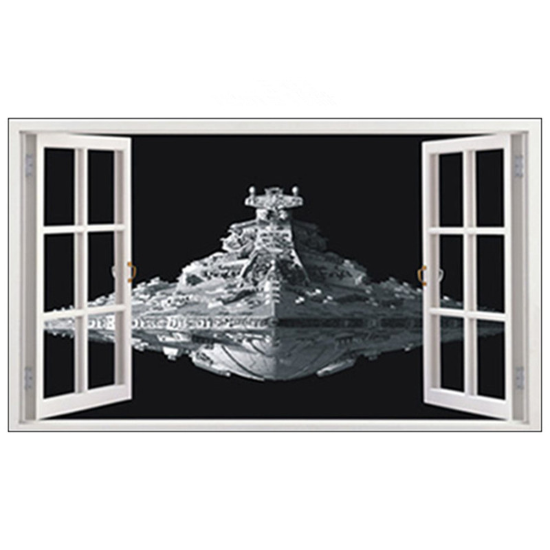 Star Wars Large Magic Window Self Adhesive Wall Sticker Decal Print Poster 3D