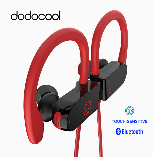 US $18 99 40% OFF|dodocool Bluetooth Earphone IPX5 Waterproof Wireless  Earphone Touch sensitive Headphone with Mic Support Siri Google  Assistant-in