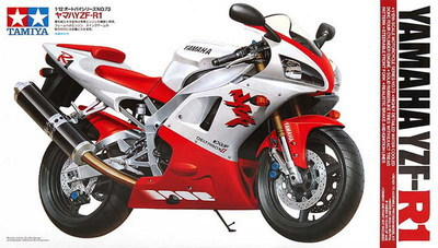 ФОТО TAMIYA MODEL 1/12 SCALE models #14073 Yamaha YZF-R1 plastic model kit