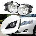Novo 2 pcs 55 W 9-LED Rodada Frente Direita/Esquerda Luz de Nevoeiro Lâmpada DRL Luzes de Condução Diurna Correndo para Toyota Camry Corolla Yaris Lexus