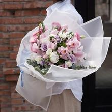 Новинка 20 шт корейские цветы двухцветная бумажная упаковка подарочная упаковка нейтральный цвет флористическая Упаковка Бумажные цветы букет поставки