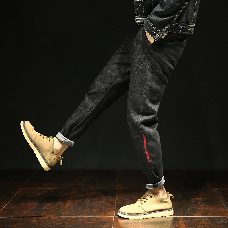 2018 Summer Japan style harem pants long jeans men Korean fashion loose male denim trousers solid hip hop plus size 42 cotton
