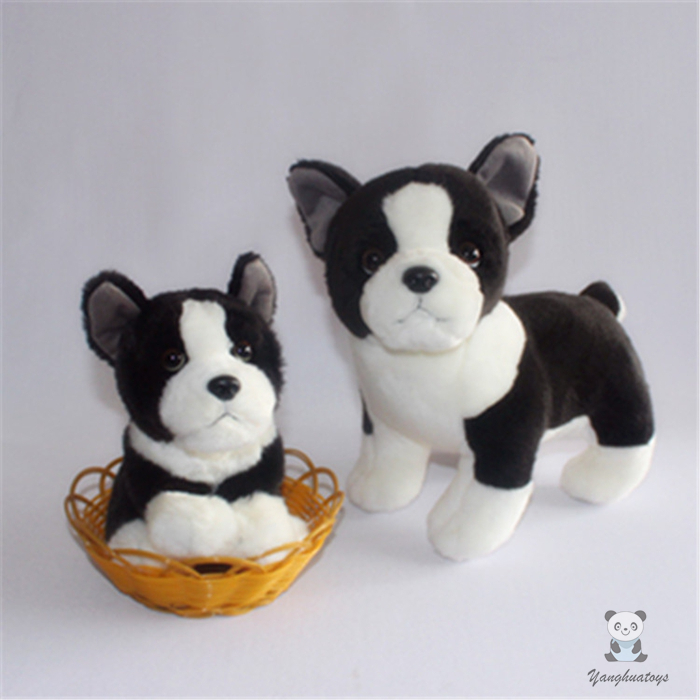 Cute Bulldog Doll Plush Toy Boston Terrier Child Toys Gift In