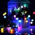 2 PÇS/LOTE 5 M 50 LEDs RGB Bola LED String fada Luz EUA/UE Plug110V/220 V Brilho Mudança de cor para o Casamento/Festa/Jardim atacado