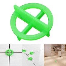 100 шт. зеленая Крестовая плитка Выравнивающая перерабатываемая пластиковая плитка Выравнивающая система Базовая прокладка WWO66
