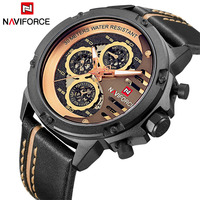 Luxury Brand NAVIFORCE Fashion Men S Quartz Sports Watches Man Leather Hollow Face 24 Hour Date