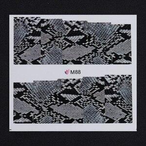 Image 3 - 1 sheet 7*6.5cm Snake Skin Water Decals Nail Art Water Slide Nail Sticker Paper Nail Slider DIY Nail Tips Decorations