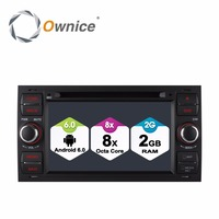 Octa Core Android 6.0 Car DVD Player GPS Radio For Ford Focus 2 2004 2005 2006 2007 2008 Mondeo Transit C Max Fiesta
