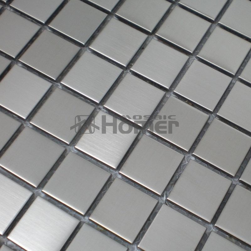 gratis forsendelse, 23x23mm sølv rustfrit stål mosaikflise 12x12 - Indretning af hjemmet