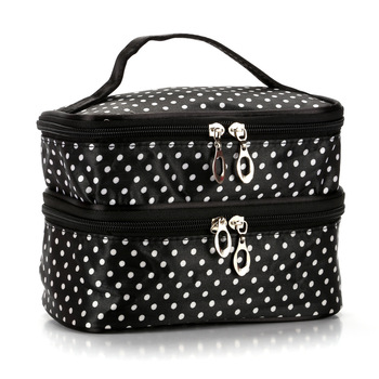 Makeup Pouch Toiletry Cosmetics Bag Han Edition Double Makeup Baoxiaobo Dot Dot Makeup Bag Handbag