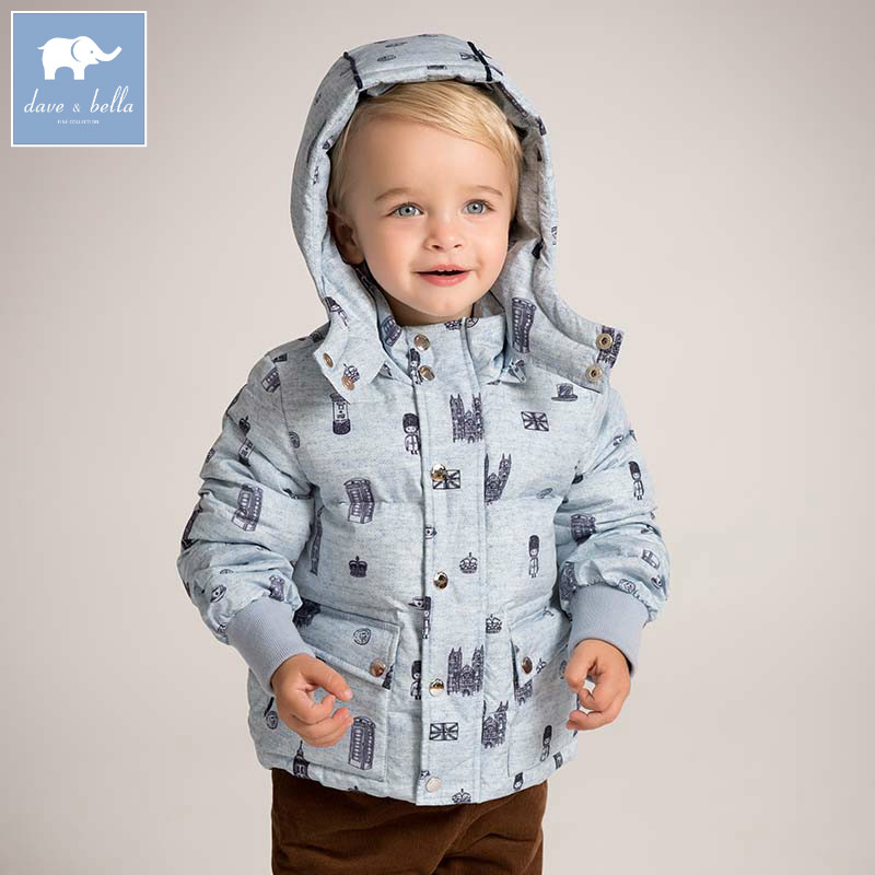 DB5988 dave bella winter baby boys down jacket children white duck down padded coat kids hooded outerwear db4088 dave bella baby girls padded clothing hooded padded coat outerwear kids down jacket