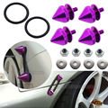 JDM Quick Release Car Bumper Fender Trunk Hatch Lid Aluminum Fastener Kit Purple