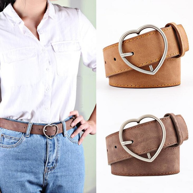 Aliexpress Com Buy Frosted Leather Belt Brand Belts For Women