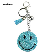 Jewelry new creative smile Korea cashmere hot drilling key chain bags tassel pendant foreign trade wholesale