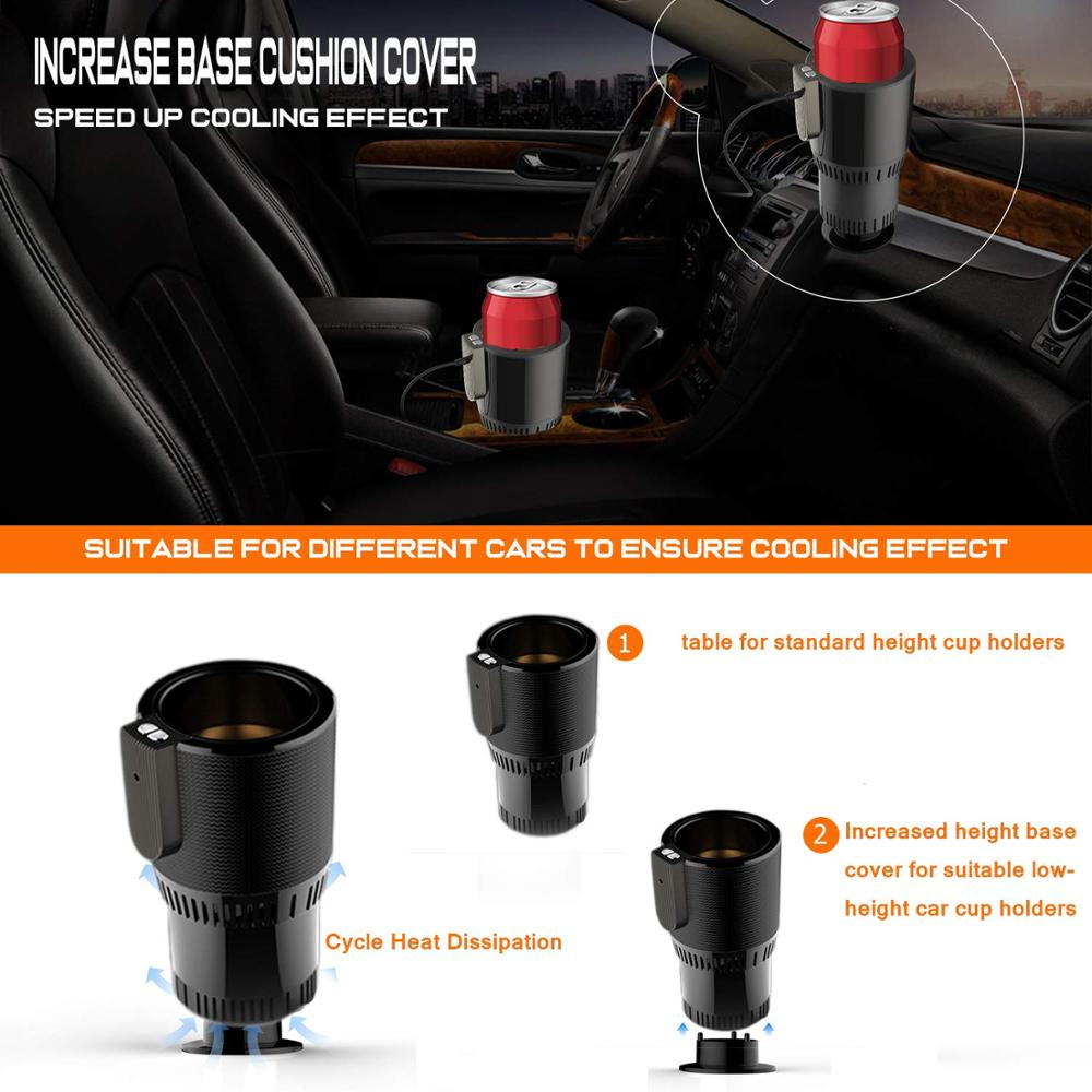 Intelligent Car Heating Cup mini Warmer Auto Cup Drink Holder Semiconductor Cooling Refrigeration Heater Warm Milk for Car Home in Vehicle Heating Cup from Automobiles Motorcycles