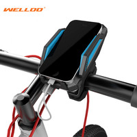 WELLOO 360 Degree Rotation Bicycle Phone Holder For GPS With ReChargable Stand Bike Navigation Cycling Phone Holder Bicycle