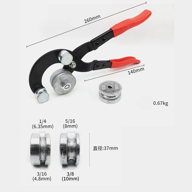 Image 5 - New Manual Brake Tubing Pipe Bender Bending Tool 3/16 Inch 1/4 Inch 5/16 Inch 3/8 Inch Diameter Heavy Duty Machine Tools Acces-in Pliers from Tools