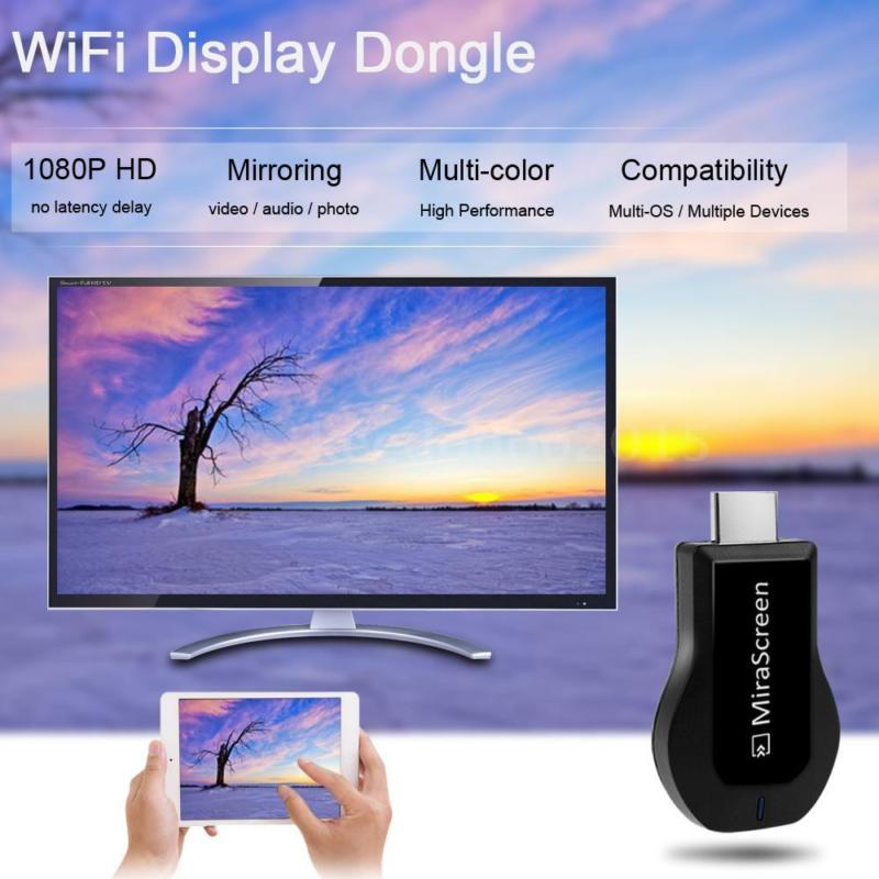 MiraScreen 1080P HD Dongle Wireless Display Receiver TV Stick for iOS Android Tablet Same Screen Image HD Screen TV or ProjectorMiraScreen 1080P HD Dongle Wireless Display Receiver TV Stick for iOS Android Tablet Same Screen Image HD Screen TV or Projector
