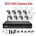 Seis Array infrarrojo Led 5mp/4mp/2mp/1mp impermeable 8CH 8 canal WIFI AHD CCTV cámara de vigilancia kits DVR envío libre