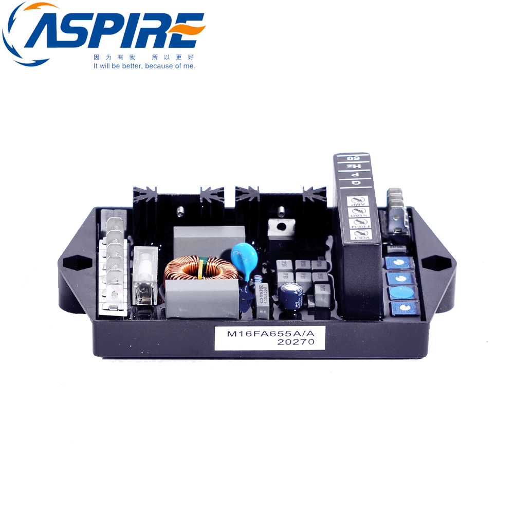 Aspire Spare Parts Automatic AVR Generator Voltage Regulator M16FA655A for Marelli Synchronous GeneratorAspire Spare Parts Automatic AVR Generator Voltage Regulator M16FA655A for Marelli Synchronous Generator