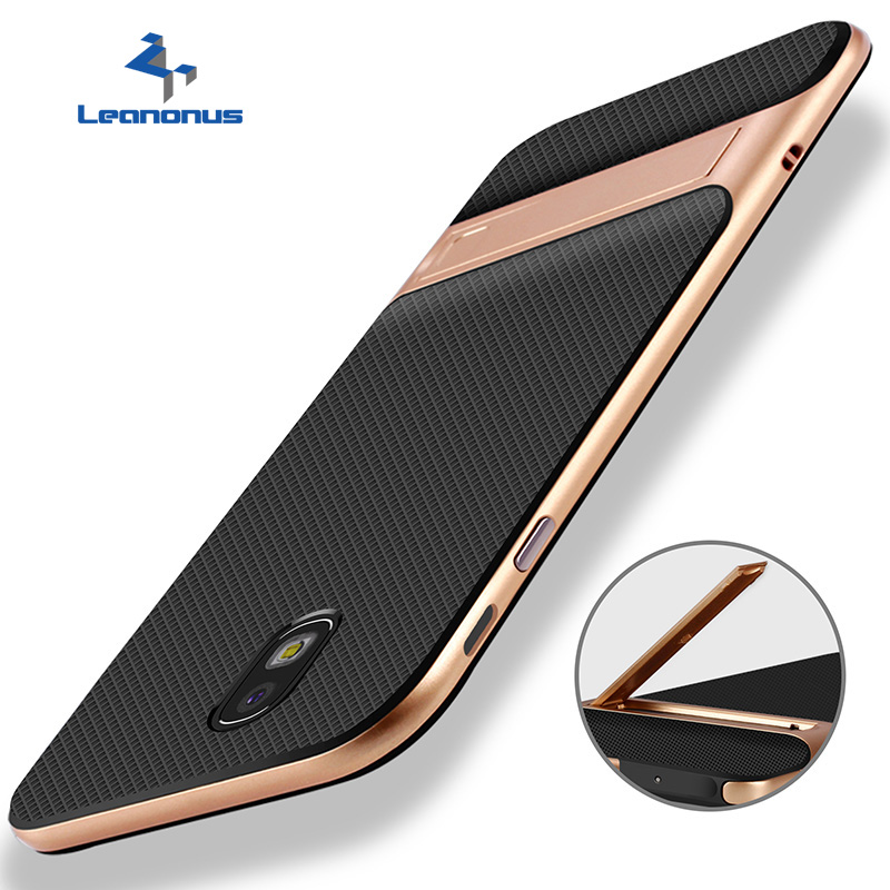 Hybrid TPU+PC Frame Case for Samsung S8 S9 Plus Note 8 J7Pro J730 J7 2017 Cover Stand Holder Back Case for Samsung J5 J7 2016