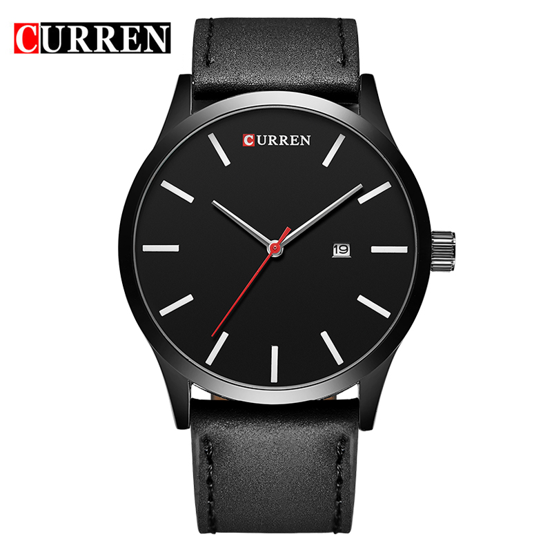 New Curren Men s Sports Quartz Watches Mens Watches Top Brand Luxury Leather Waterproof Wristwatches Relogio