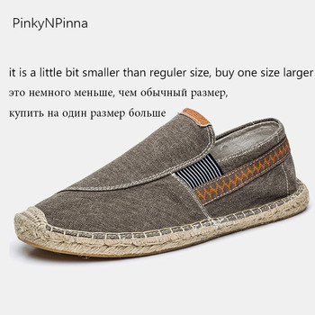 vintage men's casual canvas loafers flat hemp bottom Espadrilles driving soft shoes for holiday beach sailing Bohemian style