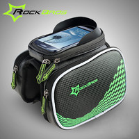 ROCKBROS Bicycle Frame Front Tube Bags Cycling Cycling Pannier Touch Screen Smartphone Bag Bicycle Accessories